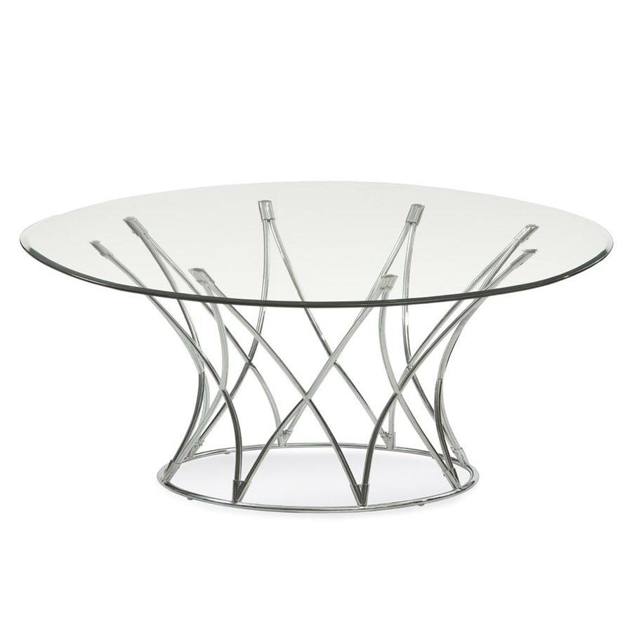 Bassett Mirror Company Inc: Bassett Mirror Company Mercer Glass Round Coffee Table At