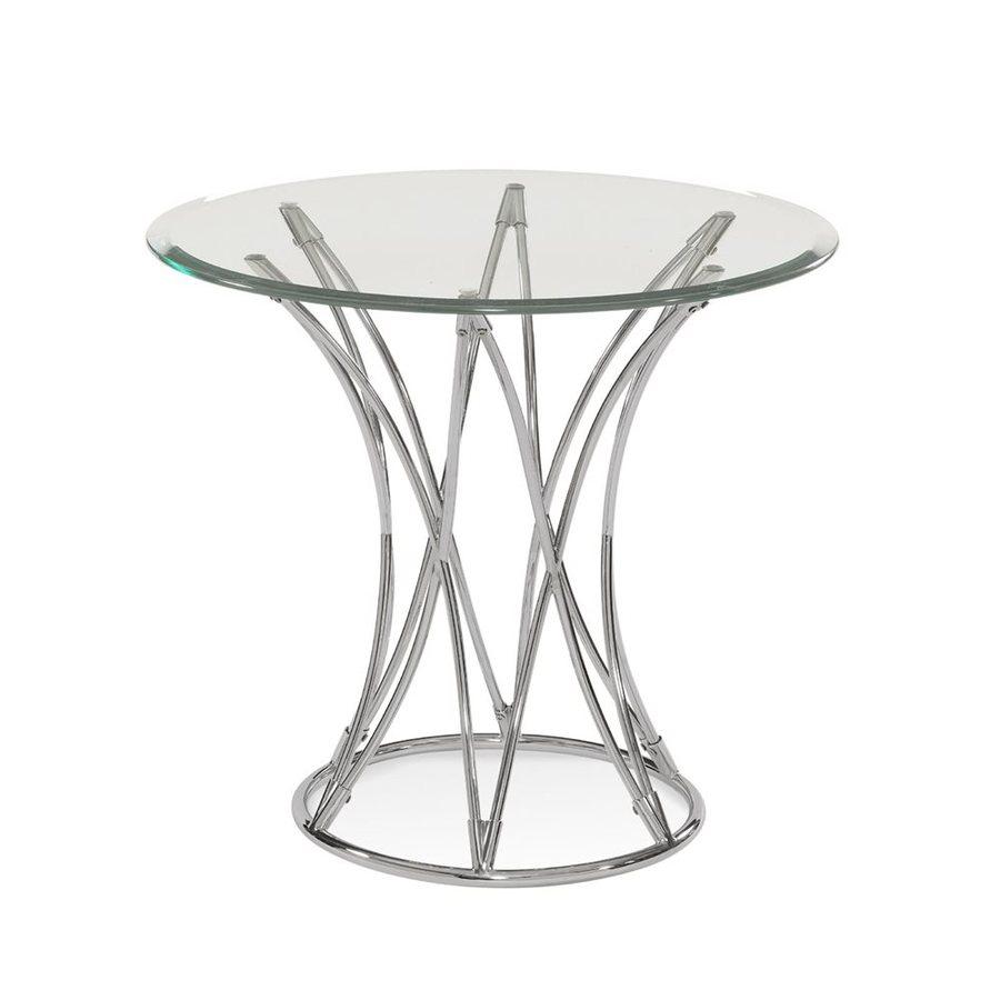 Bassett Mirror Company Mercer Polished Chrome End Table