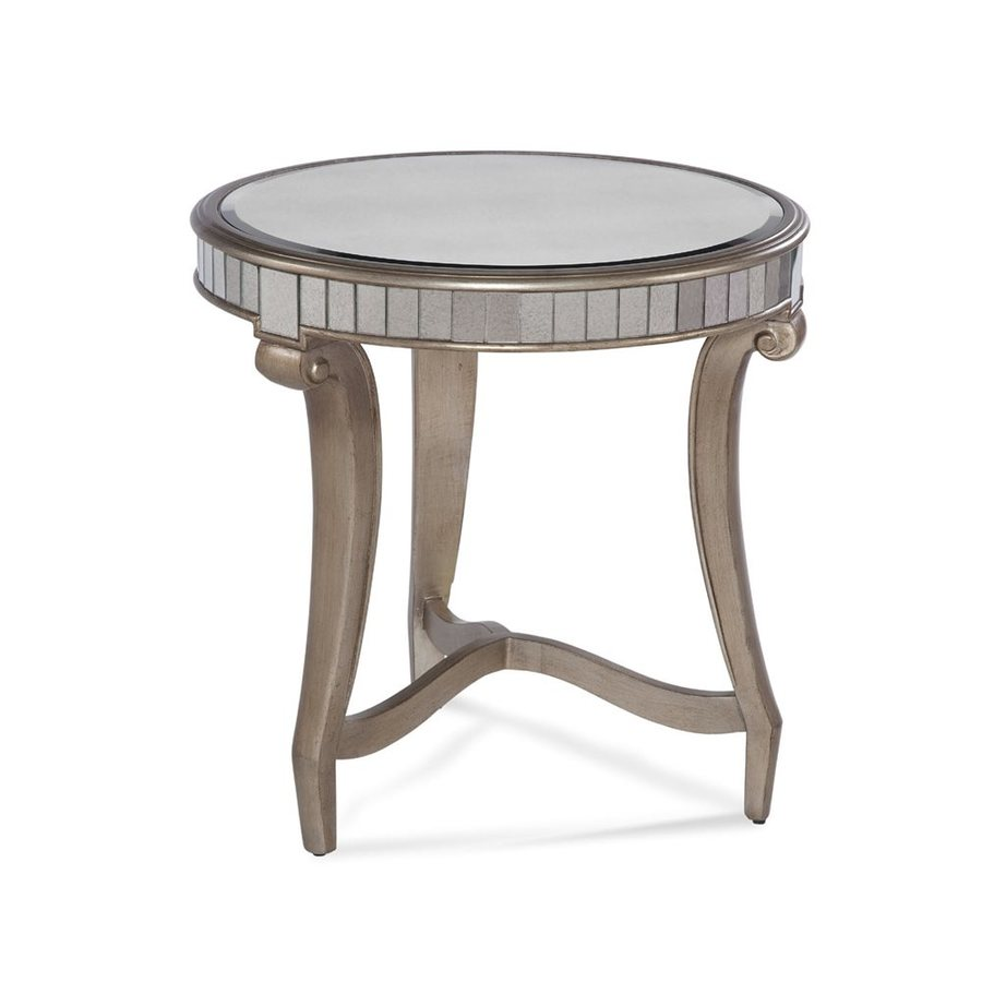 Bassett Mirror Company Celine Antique Mirror End Table