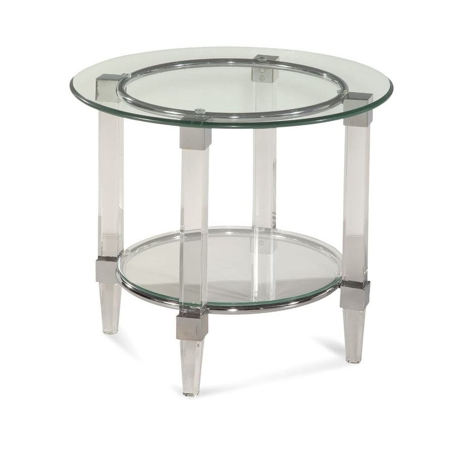 Bassett Mirror Company Cristal Chrome End Table