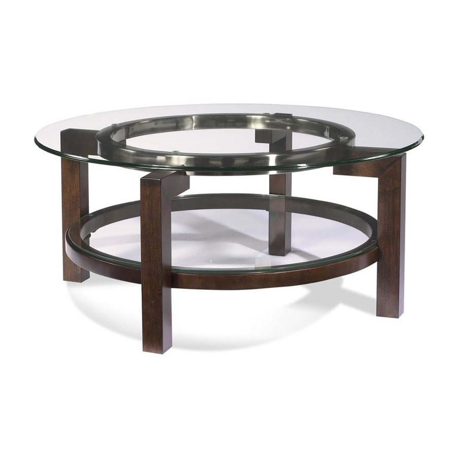 Shop Bassett Mirror Company Oslo Glass Round Coffee Table At