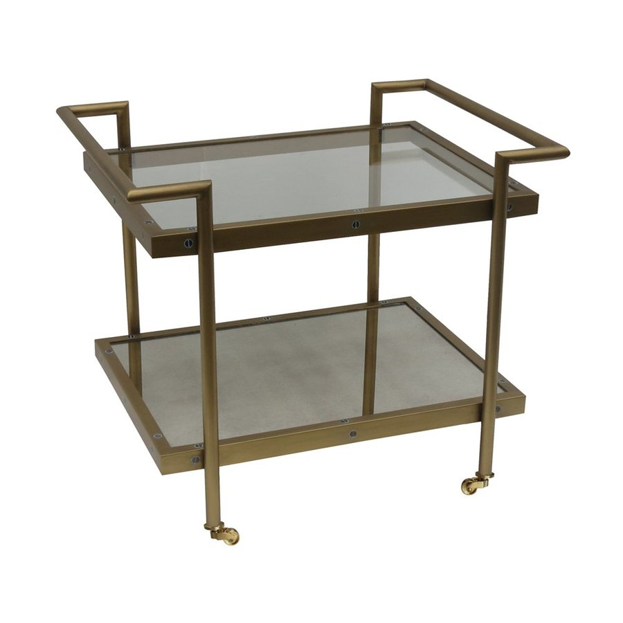 Bassett Mirror Company Fouquet Satin Brass End Table