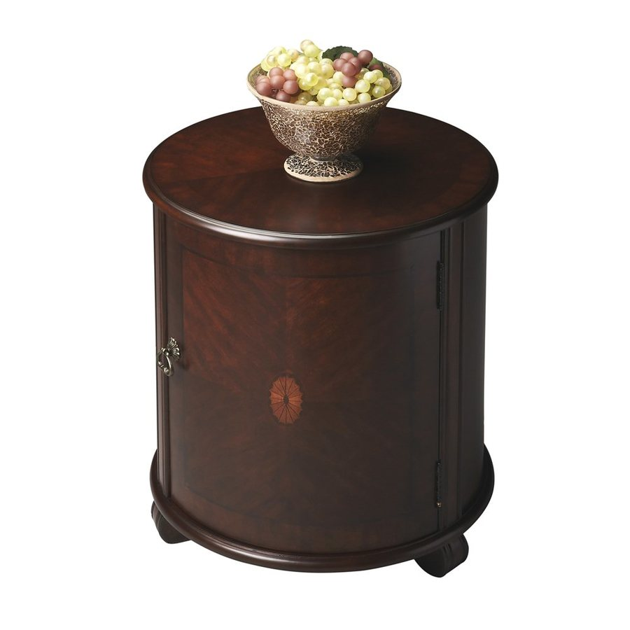 Butler Specialty Plantation Cherry Rubberwood Round End Table
