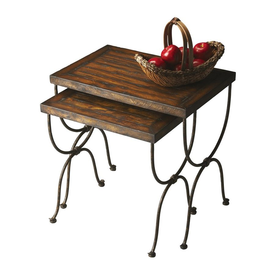 Butler Specialty Mountain Lodge 2-Piece Accent Table Set