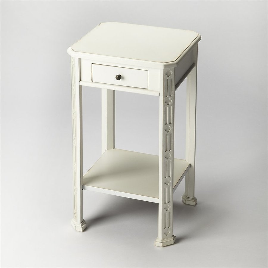Butler Specialty Masterpiece Cottage White Rubberwood End Table