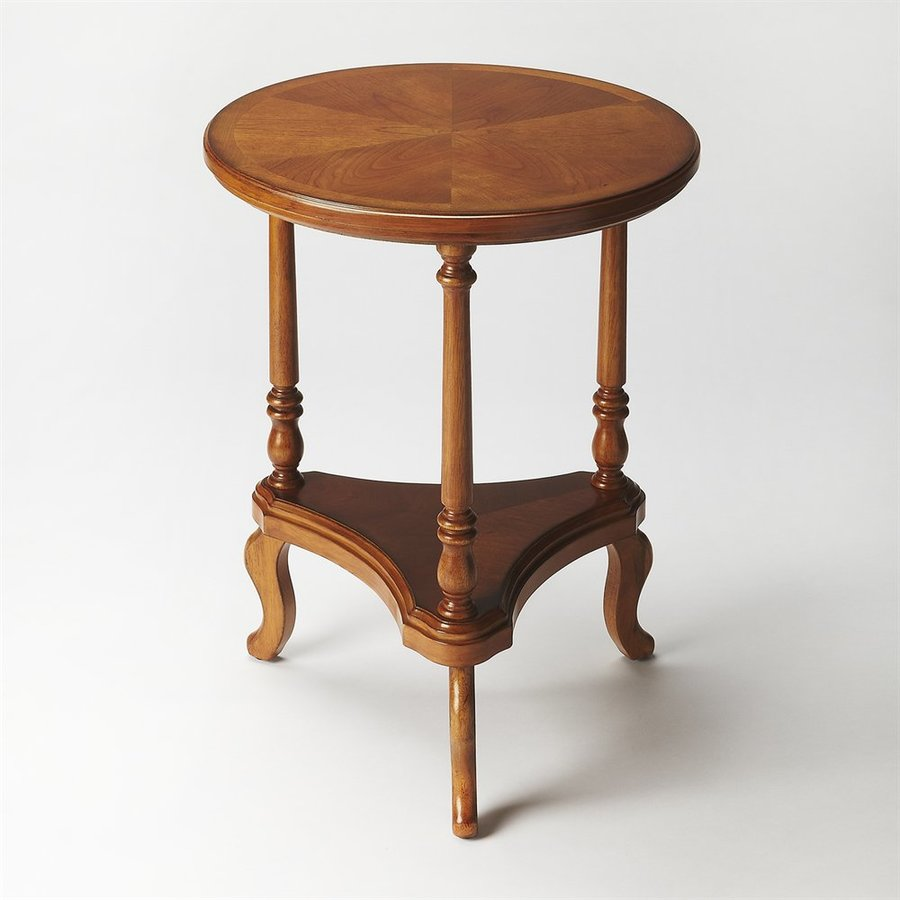 Butler Specialty Masterpiece Olive Ash Burl Rubberwood End Table