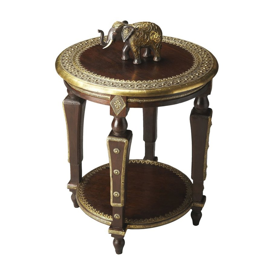 Butler Specialty Artifacts Brass Foil Mango End Table