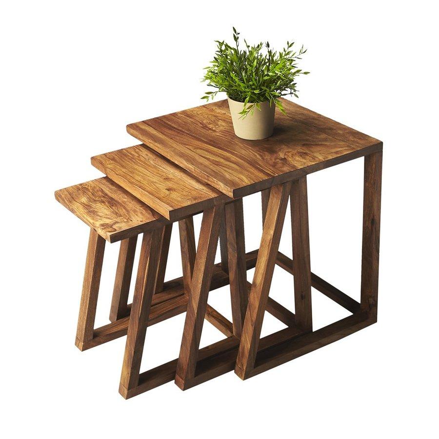 Butler Specialty Loft 3-Piece Wet Sand Accent Table Set