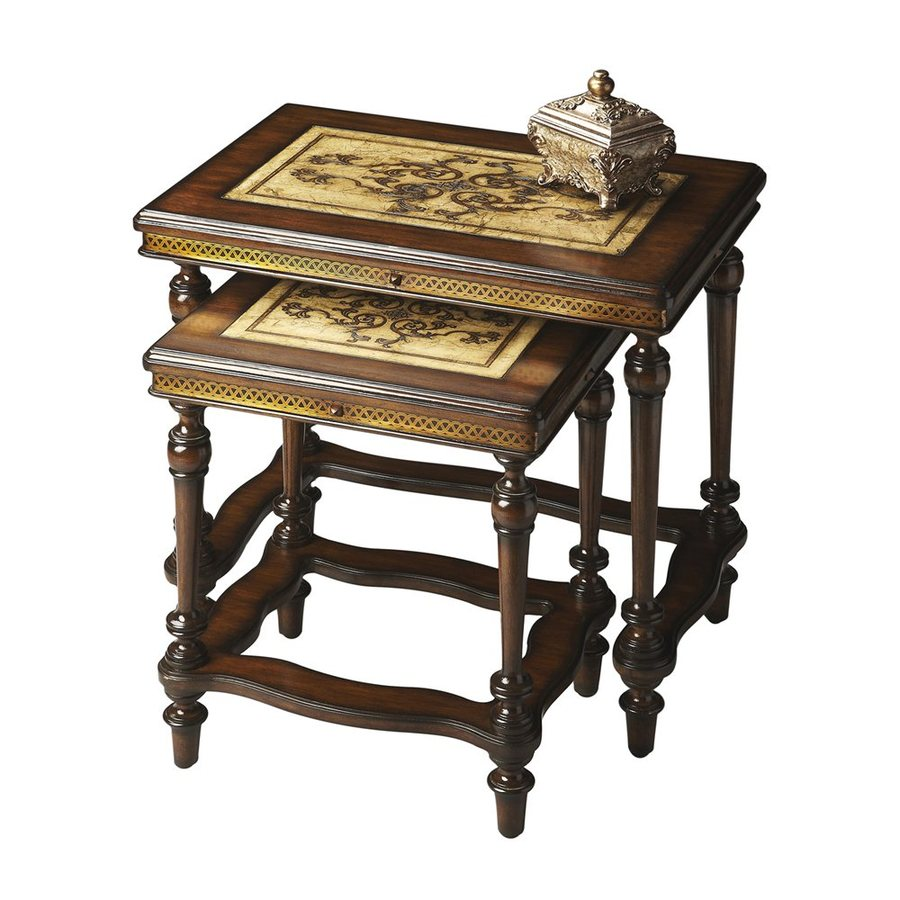 Butler Specialty Heritage 2 Piece Mahogany Accent Table Set