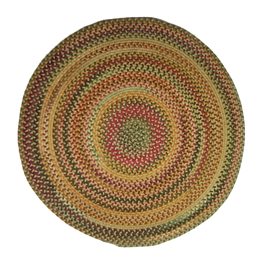 Capel Rugs Sherwood Forest Wheat Round Indoor Area Rug (Common: 8 X 8; Actual: W x L x 7.5-ft dia)
