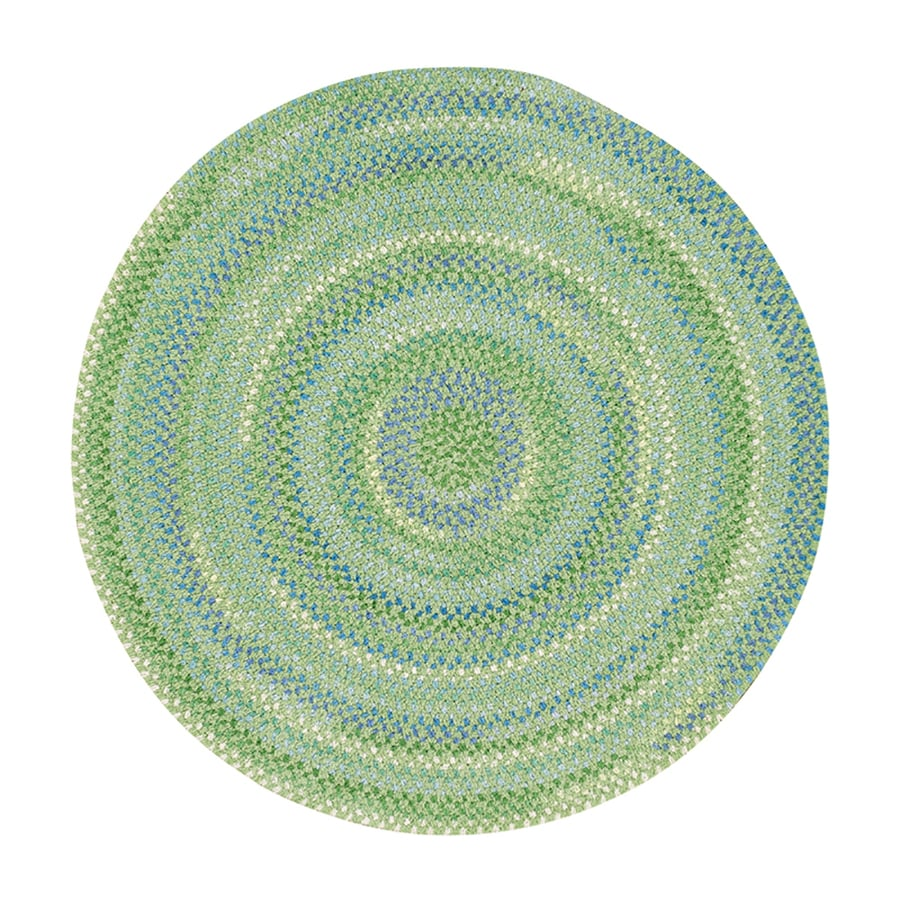 Capel Rugs Sailor Boy Sea Monster Green Round Indoor Area Rug (Common: 8 X 8; Actual: W x L x 7.5-ft dia)