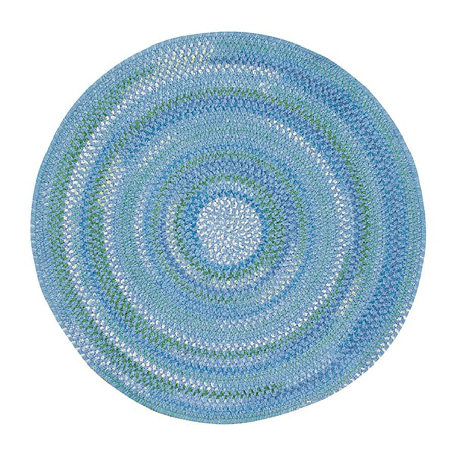 Capel Rugs Sailor Boy Deep Blue Sea Round Indoor Area Rug (Common: 8 X 8; Actual: W x L x 7.5-ft dia)