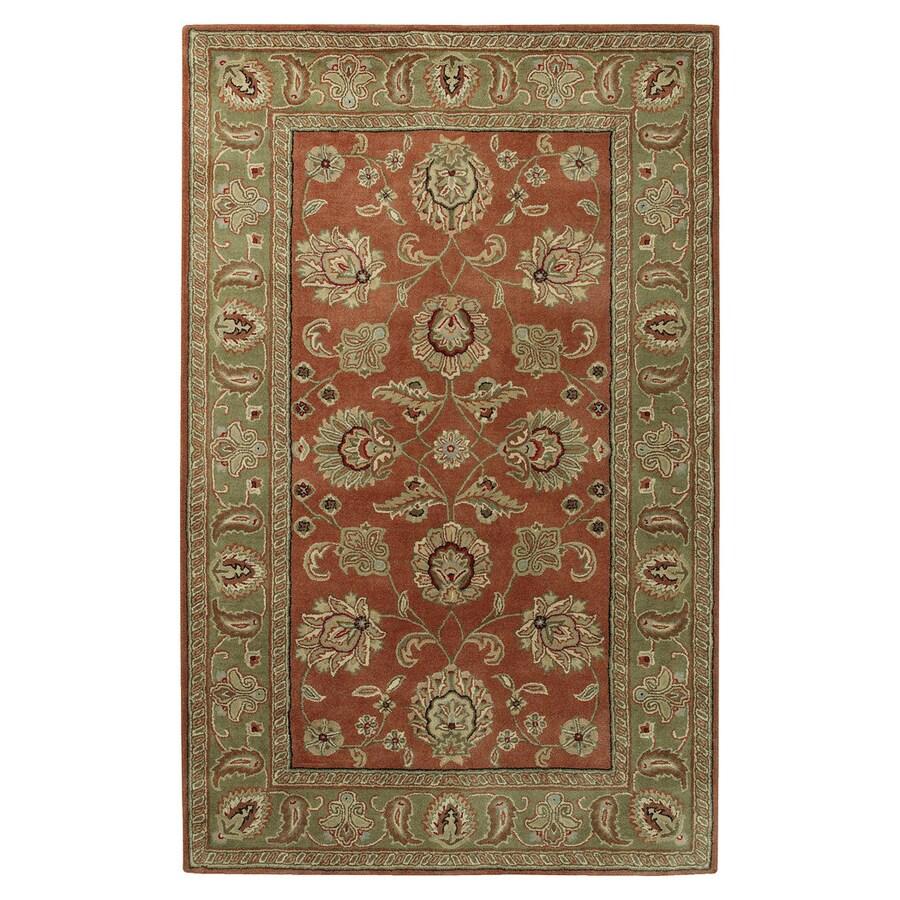 Surya Crowne Rust Rectangular Indoor Handcrafted Oriental Area Rug (Common: 4 x 6; Actual: 4-ft W x 6-ft L)