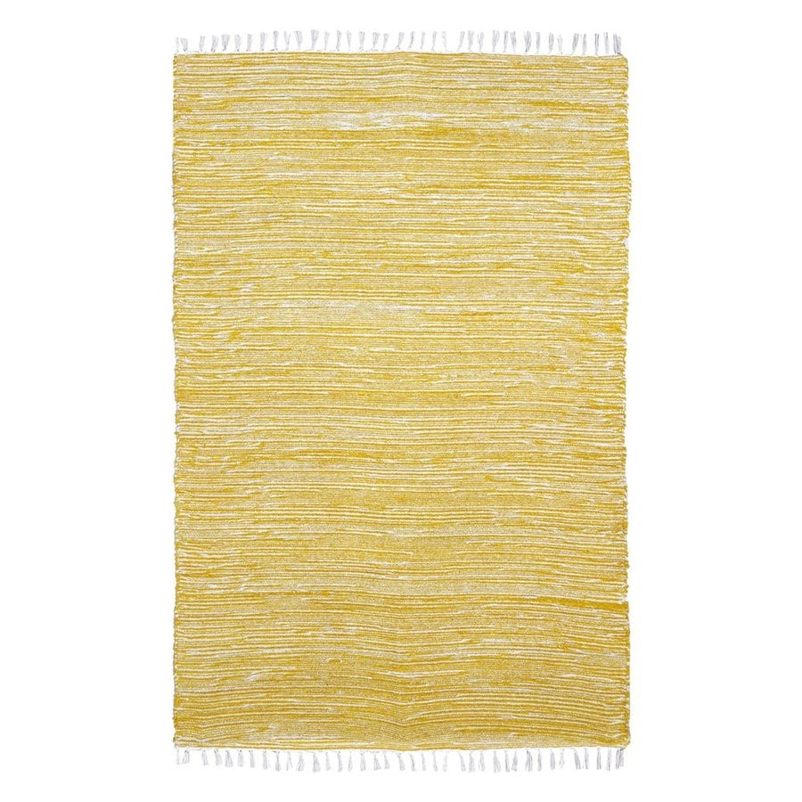 ST CROIX TRADING Complex Yellow Rectangular Indoor Handcrafted Area Rug (Common: 8 X 10; Actual: 8-ft W x 10-ft L)