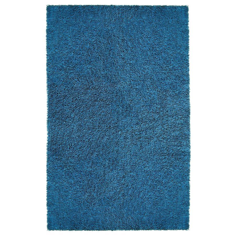ST CROIX TRADING Shagadelic Dark blue Rectangular Indoor Handcrafted Area Rug (Common: 2 X 4; Actual: 2.5-ft W x 4.17-ft L)