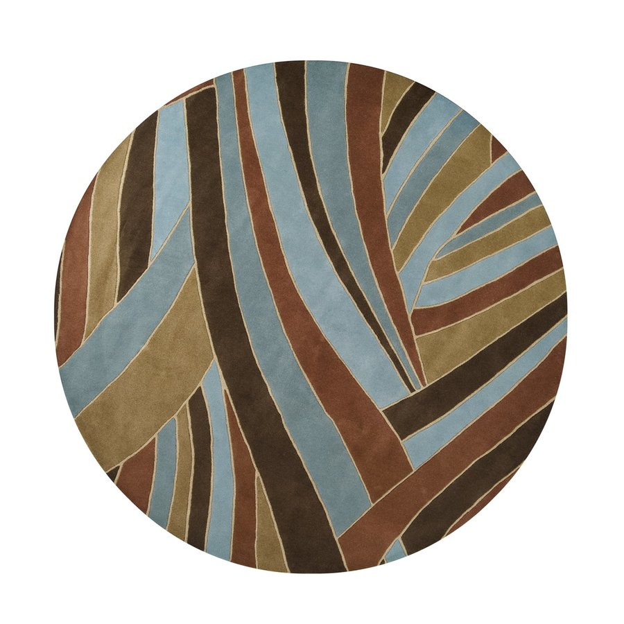 Surya Forum Russet Round Indoor Handcrafted Safari Area Rug (4-ft dia)