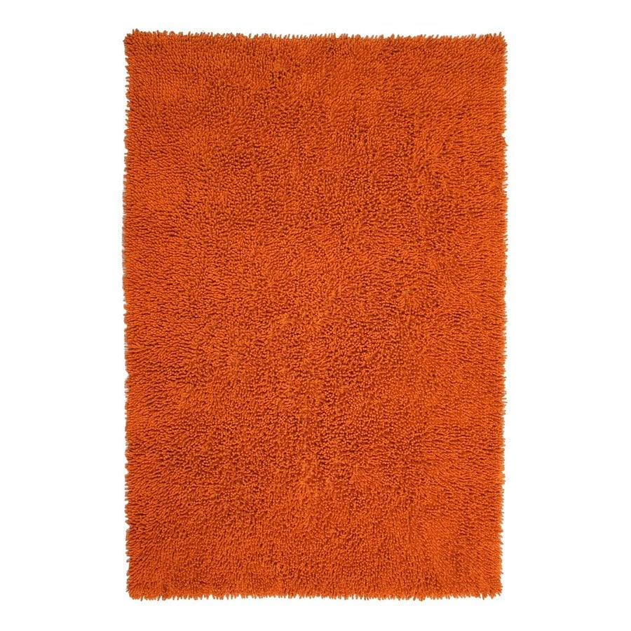 ST CROIX TRADING Shagadelic Copper Rectangular Indoor Handcrafted Area Rug (Common: 2 X 4; Actual: 2.5-ft W x 4.17-ft L)