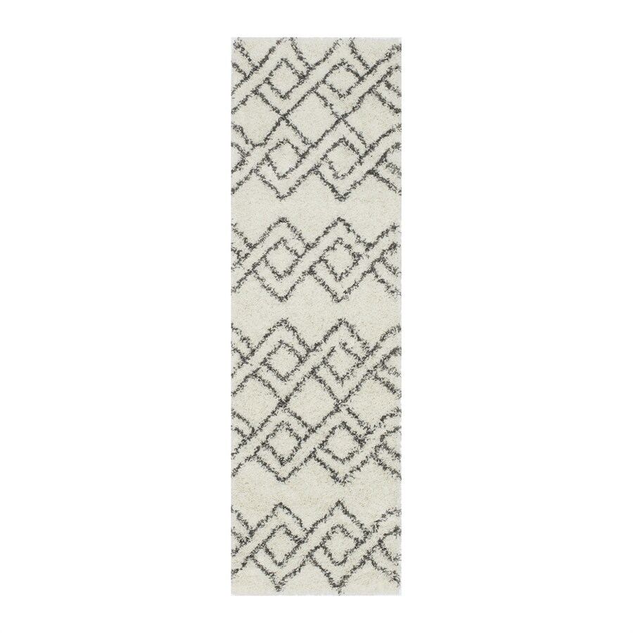 Momeni Maya Ivory Rectangular Indoor Machine-made Moroccan Runner (Common: 2 X 8; Actual: 2.25-ft W x 7.5-ft L)