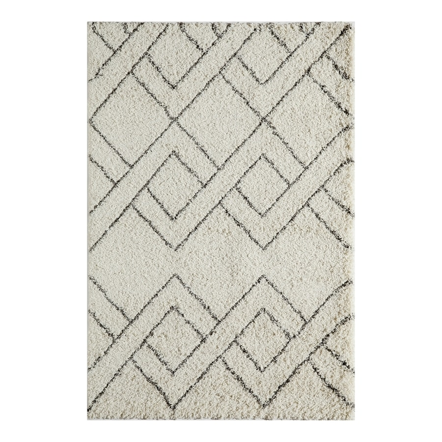 Momeni Maya Ivory Rectangular Indoor Machine-made Moroccan Area Rug (Common: 5 X 8; Actual: 5.25-ft W x 7.5-ft L)