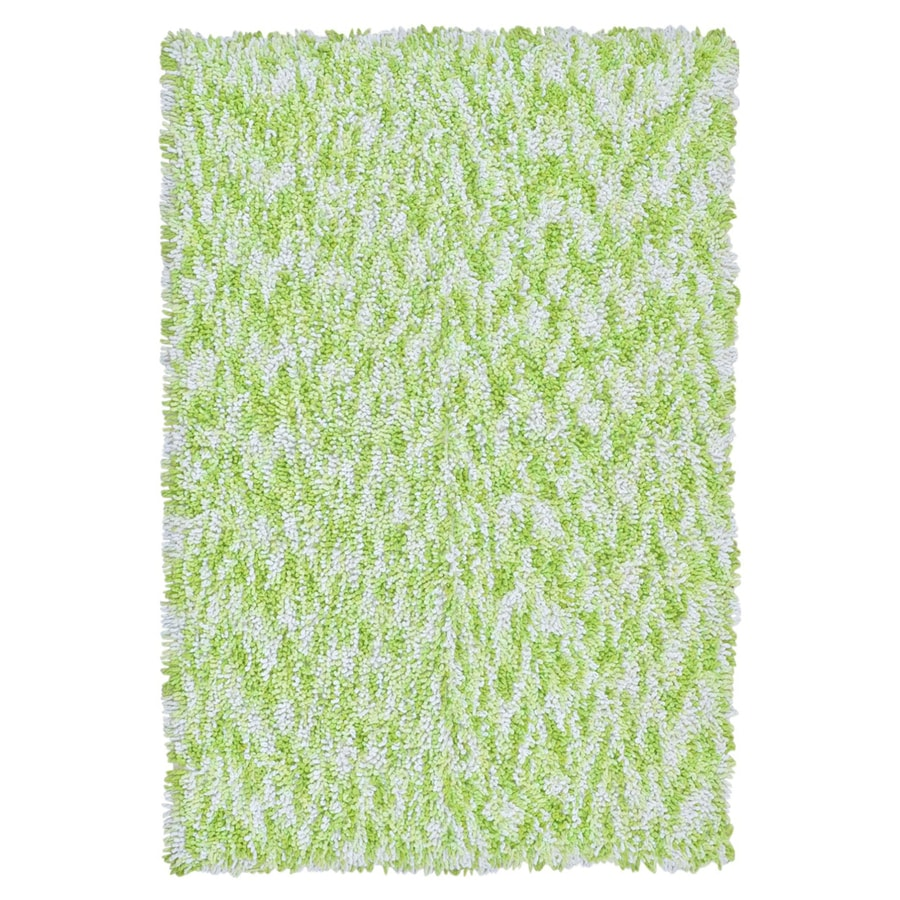 ST CROIX TRADING Shagadelic Green Rectangular Indoor Handcrafted Area Rug (Common: 2 X 4; Actual: 2.5-ft W x 4.17-ft L)