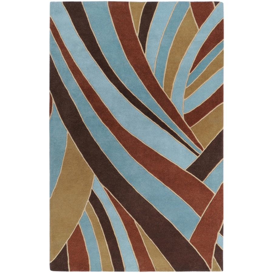Surya Forum Russet Rectangular Indoor Handcrafted Safari Area Rug (Common: 8 x 10; Actual: 7-ft 6-in W x 9-ft 6-in L)