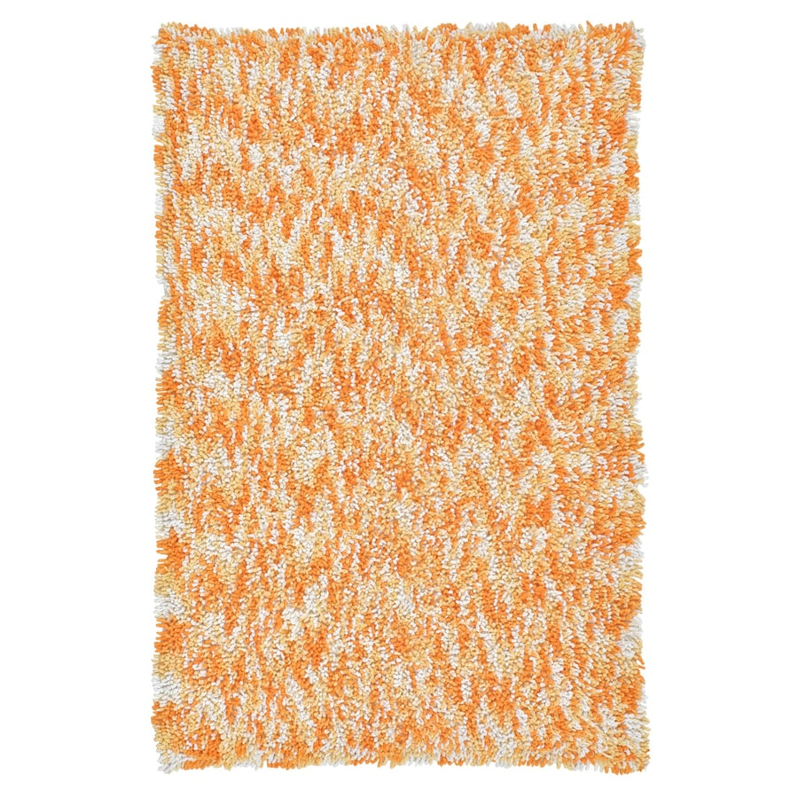 ST CROIX TRADING Shagadelic Orange Rectangular Indoor Handcrafted Area Rug (Common: 2 X 4; Actual: 2.5-ft W x 4.17-ft L)