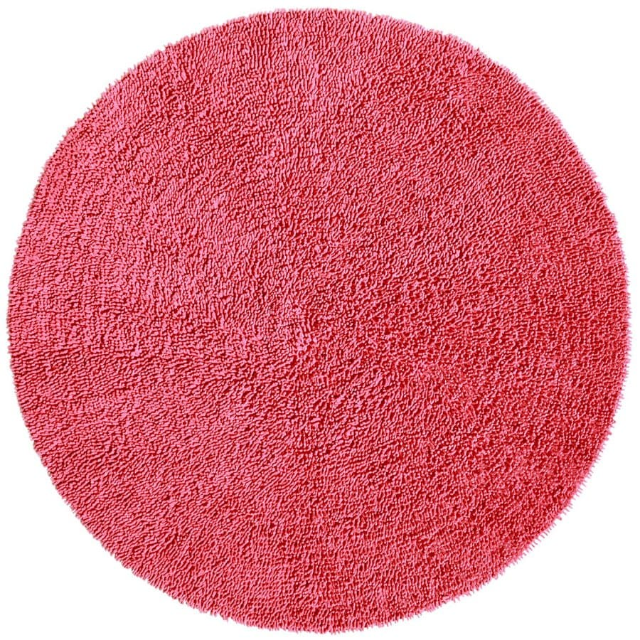 ST CROIX TRADING Shagadelic Pink Round Indoor Handcrafted Area Rug (Common:; Actual: W x L x 3-ft dia)