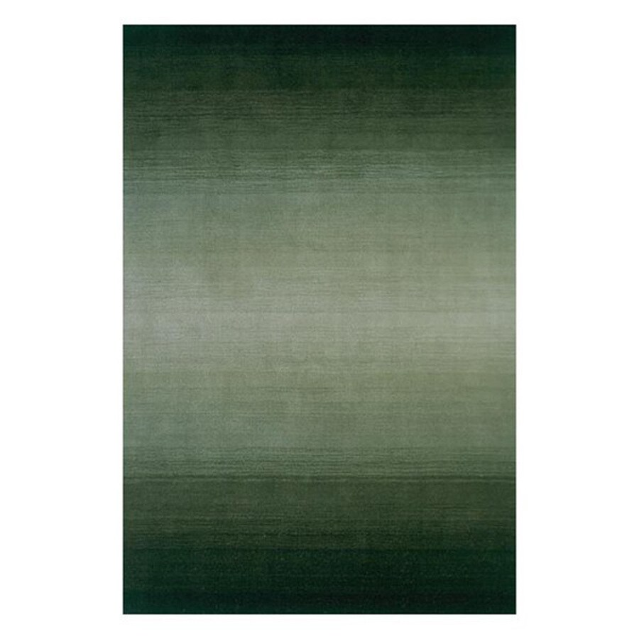 Momeni Metro Forest green Rectangular Indoor Handcrafted Area Rug (Common: 3 X 5; Actual: 3.25-ft W x 5.25-ft L)