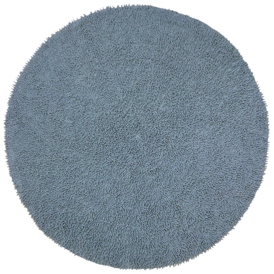 ST CROIX TRADING Shagadelic Gray Round Indoor Handcrafted Area Rug (Common:; Actual: W x L x 3-ft dia)