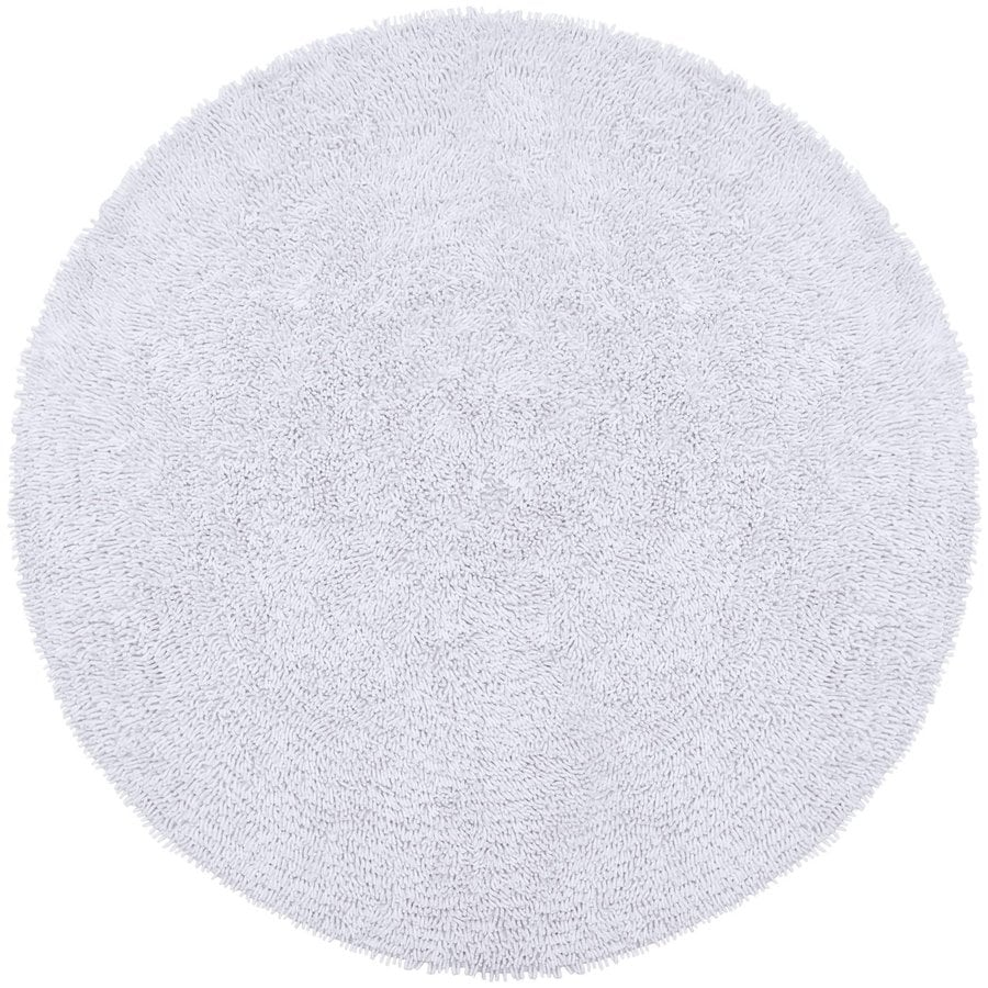 ST CROIX TRADING Shagadelic White Round Indoor Handcrafted Area Rug (Common:; Actual: W x L x 3-ft dia)
