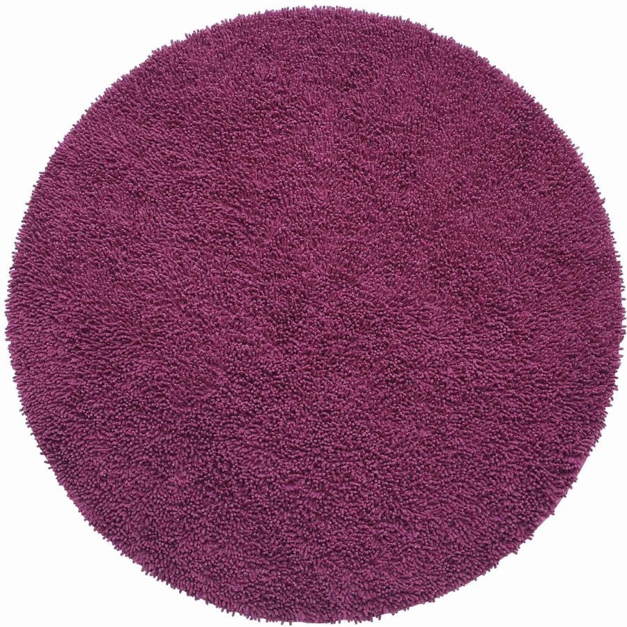 ST CROIX TRADING Shagadelic Purple Round Indoor Handcrafted Area Rug (Common:; Actual: W x L x 3-ft dia)