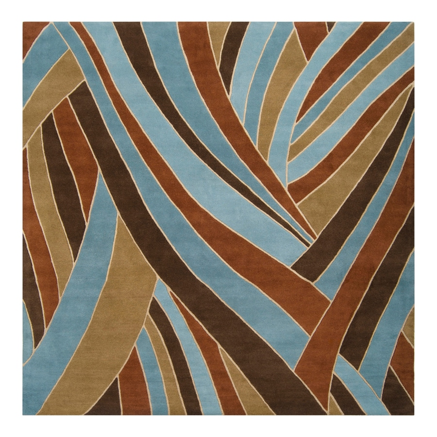 Surya Forum Russet Square Indoor Handcrafted Safari Area Rug (Common: 9 x 9; Actual: 9-ft W x 9-ft L)