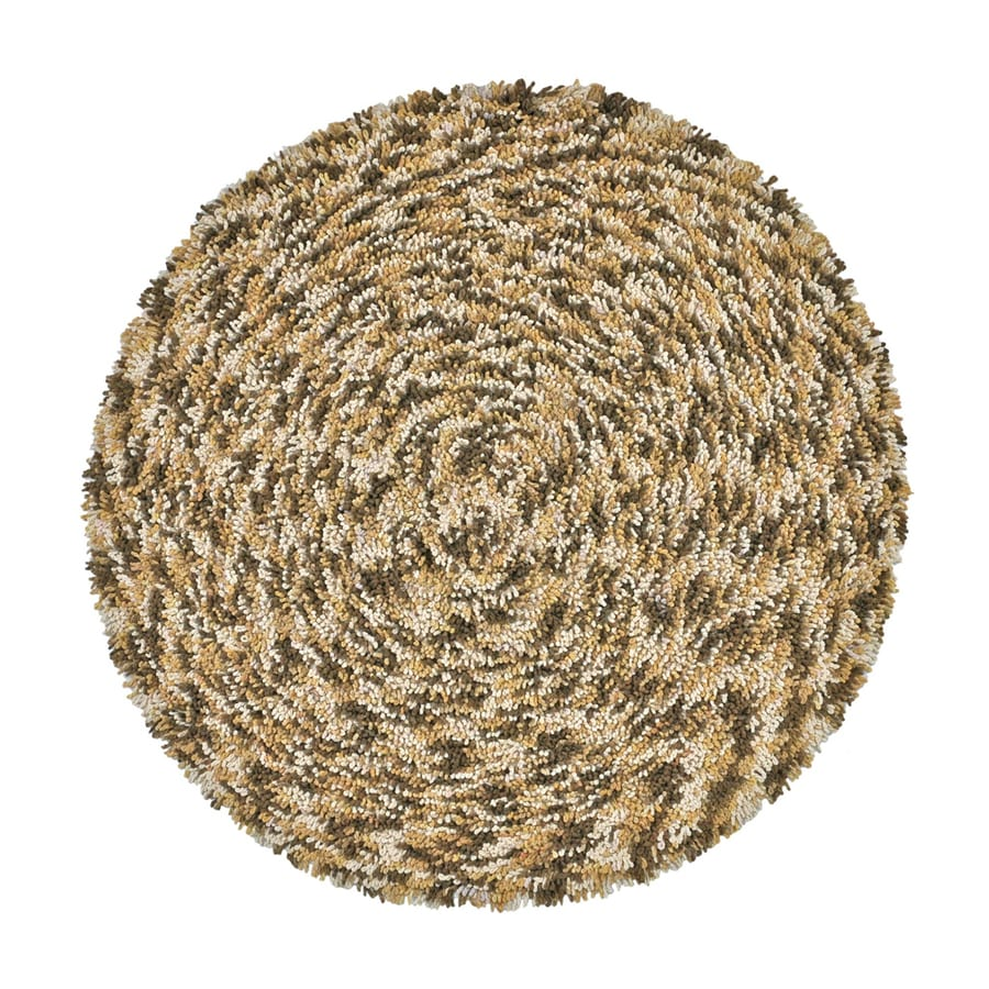 ST CROIX TRADING Shagadelic Brown Round Indoor Handcrafted Area Rug (Common:; Actual: W x L x 3-ft dia)