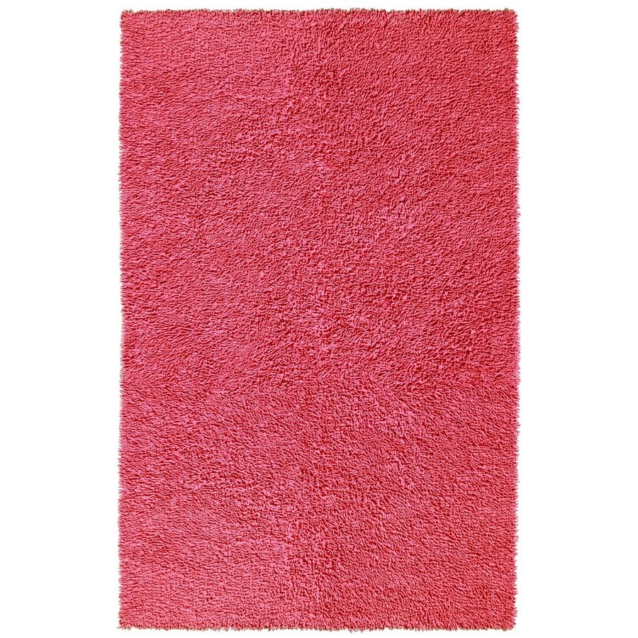 ST CROIX TRADING Shagadelic Pink Rectangular Indoor Handcrafted Area Rug (Common: 4 X 6; Actual: 4-ft W x 6-ft L)