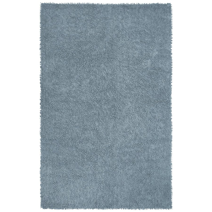 ST CROIX TRADING Shagadelic Gray Rectangular Indoor Handcrafted Area Rug (Common: 4 X 6; Actual: 4-ft W x 6-ft L)