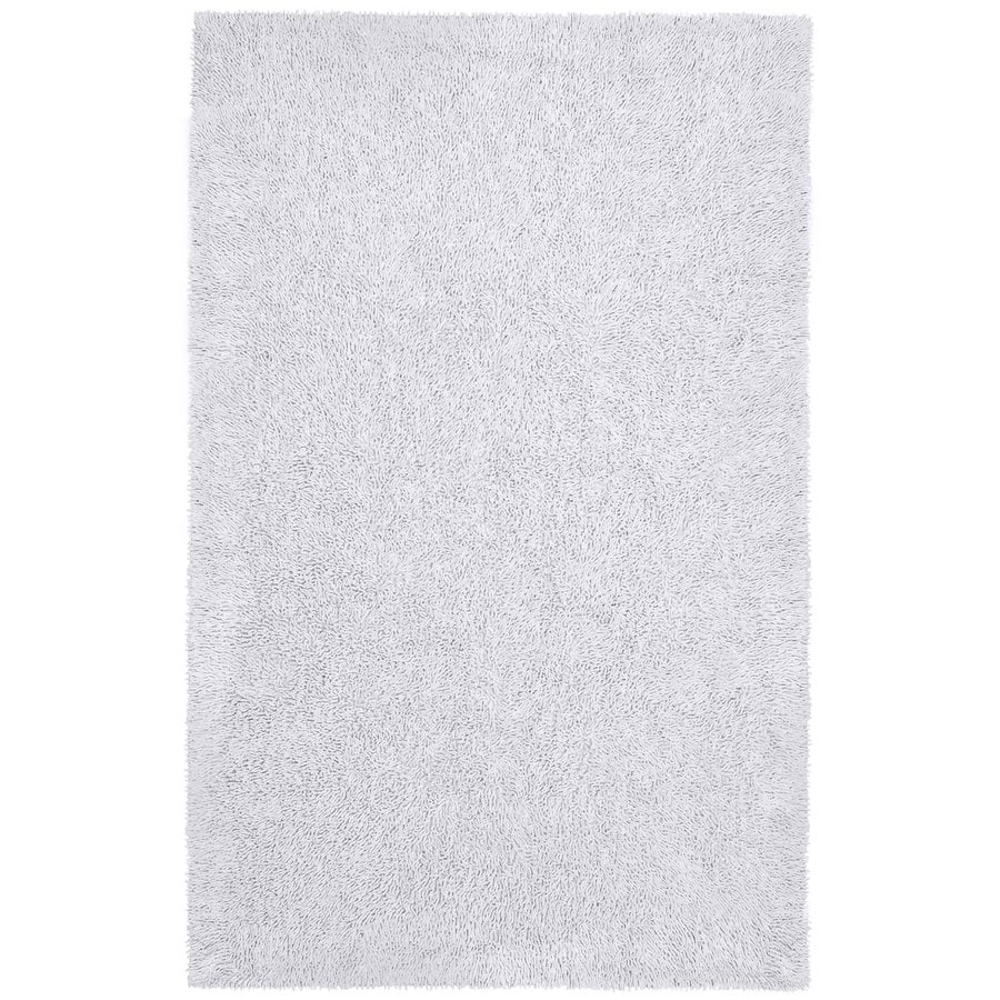 ST CROIX TRADING Shagadelic White Rectangular Indoor Handcrafted Area Rug (Common: 4 X 6; Actual: 4-ft W x 6-ft L)