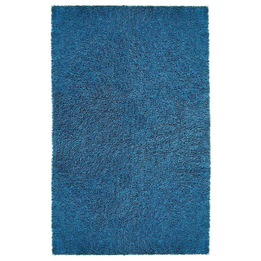 ST CROIX TRADING Shagadelic Dark blue Rectangular Indoor Handcrafted Area Rug (Common: 4 X 6; Actual: 4-ft W x 6-ft L)