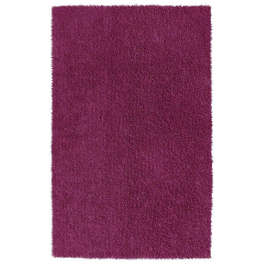 ST CROIX TRADING Shagadelic Purple Rectangular Indoor Handcrafted Area Rug (Common: 4 X 6; Actual: 4-ft W x 6-ft L)