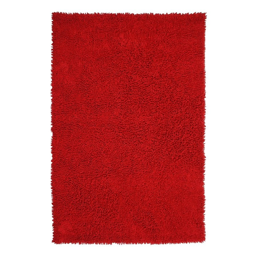 ST CROIX TRADING Shagadelic Red Rectangular Indoor Handcrafted Area Rug (Common: 4 X 6; Actual: 4-ft W x 6-ft L)