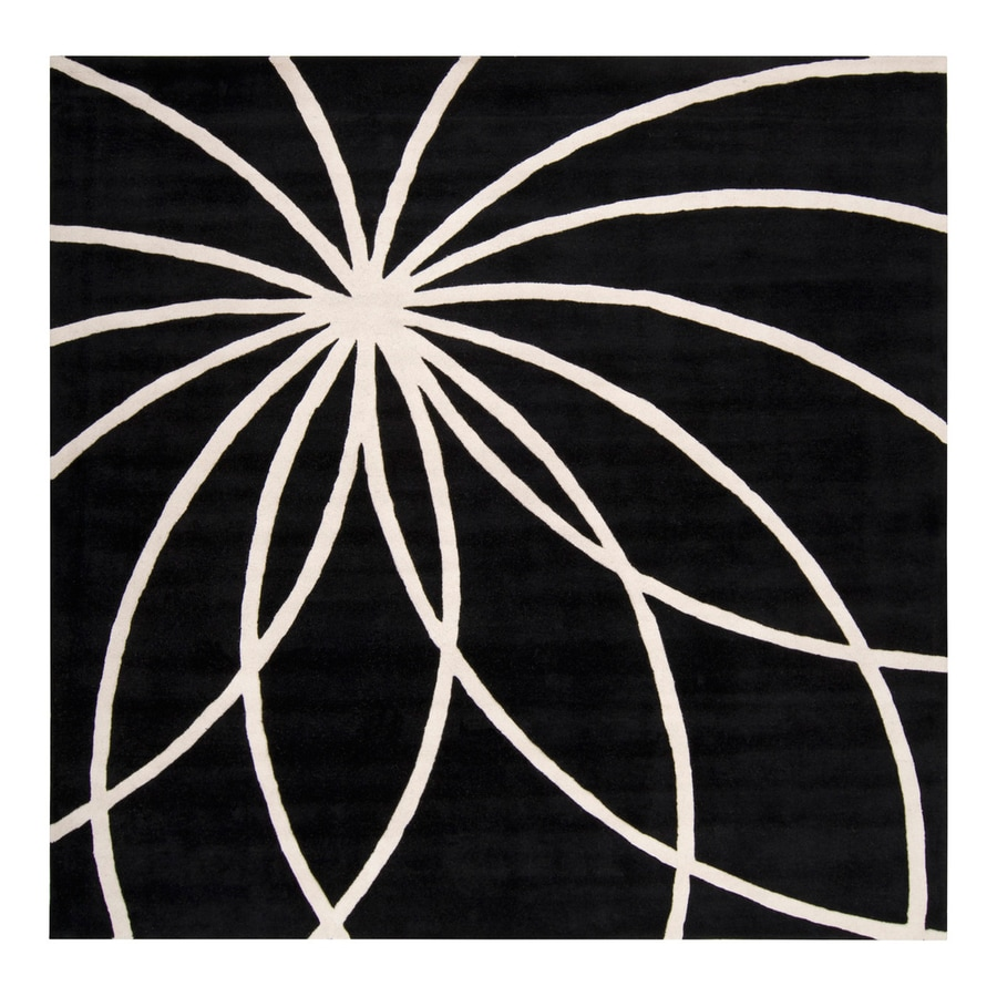 Surya Forum Coal Square Indoor Handcrafted Area Rug (Common: 9 x 9; Actual: 9-ft 9-in W x 9-ft 9-in L)