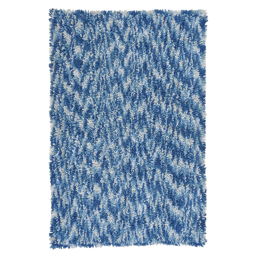 ST CROIX TRADING Shagadelic Blue Rectangular Indoor Handcrafted Area Rug (Common: 4 X 6; Actual: 4-ft W x 6-ft L)