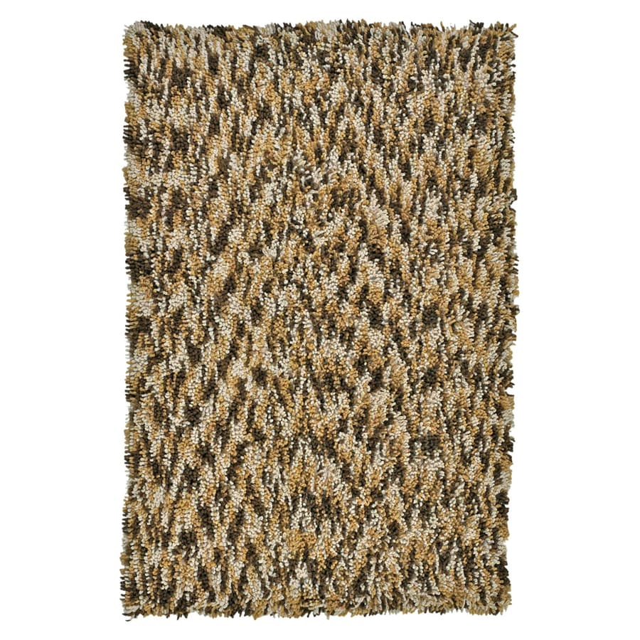ST CROIX TRADING Shagadelic Brown Rectangular Indoor Handcrafted Area Rug (Common: 4 X 6; Actual: 4-ft W x 6-ft L)