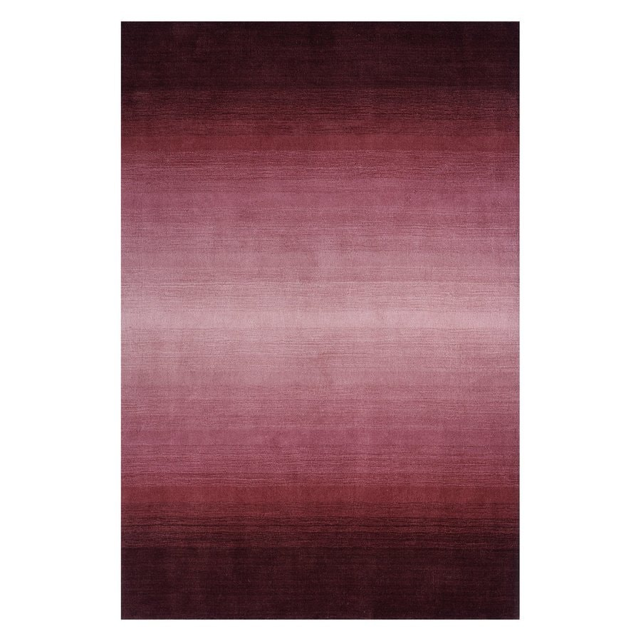 Momeni Metro Plum Rectangular Indoor Handcrafted Area Rug (Common: 8 X 11; Actual: 8-ft W x 11-ft L)