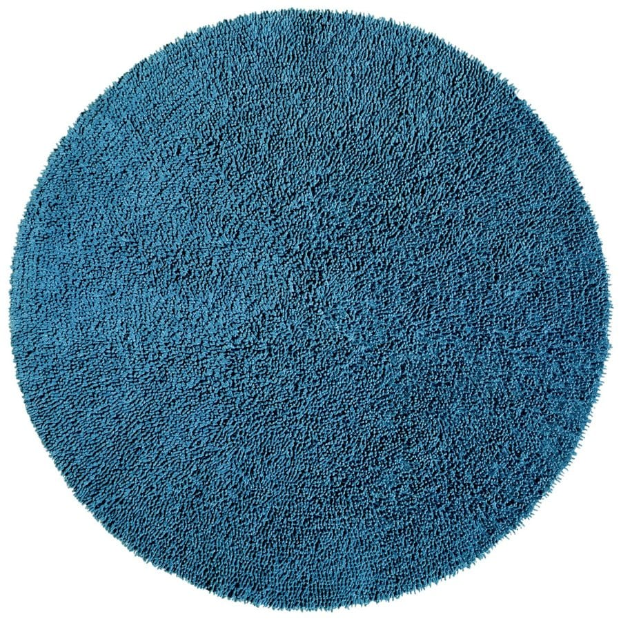 ST CROIX TRADING Shagadelic Dark blue Round Indoor Handcrafted Area Rug (Common:; Actual: W x L x 5-ft dia)