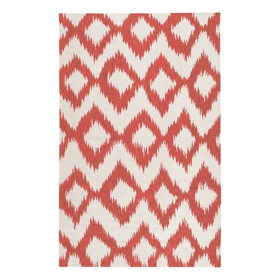 Surya Frontier Orange/cream Rectangular Indoor Handcrafted Area Rug (Common: 5 x 8; Actual: 5-ft W x 8-ft L)