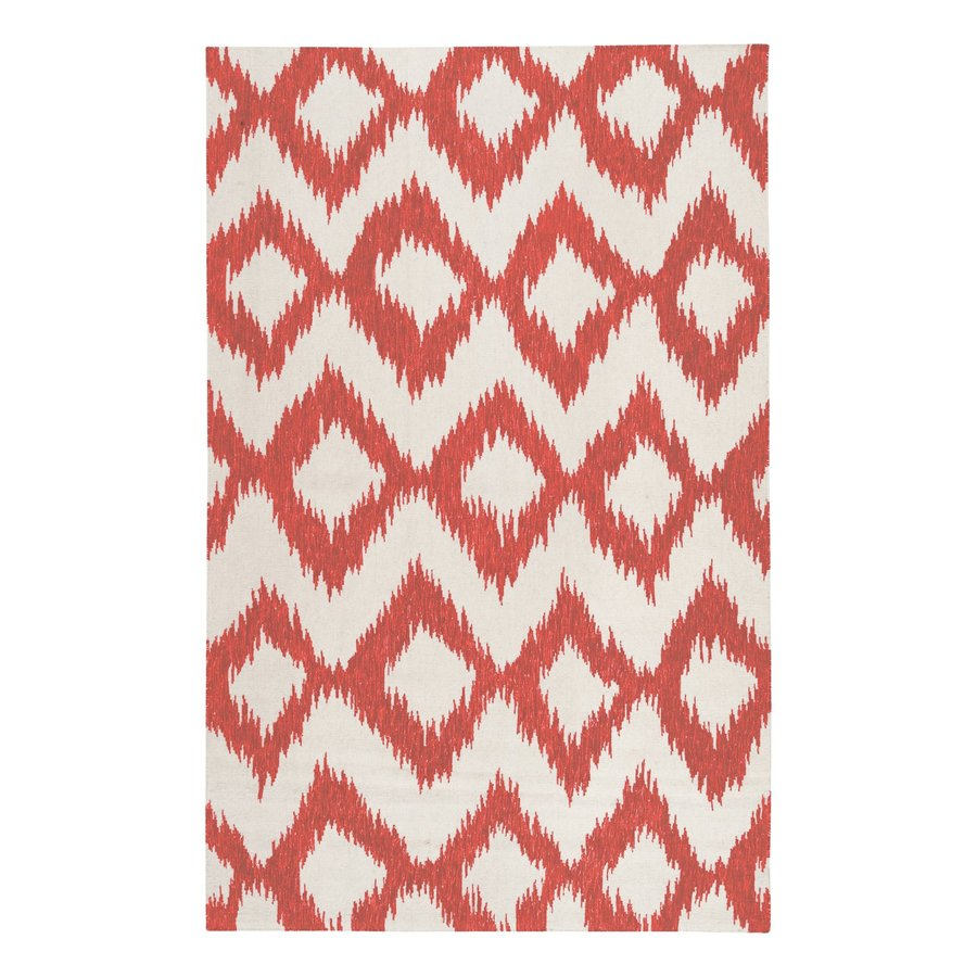 Surya Frontier Orange/cream Rectangular Indoor Handcrafted Area Rug (Common: 8 x 11; Actual: 8-ft W x 11-ft L)