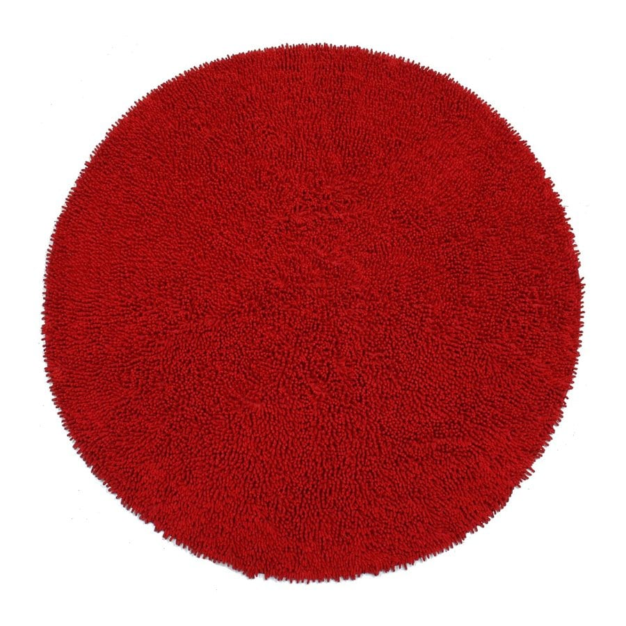 ST CROIX TRADING Shagadelic Red Round Indoor Handcrafted Area Rug (Common:; Actual: W x L x 5-ft dia)