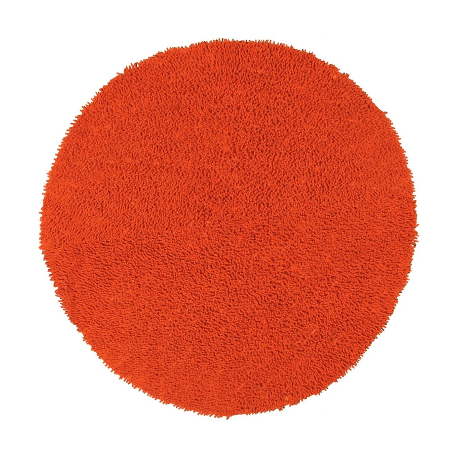 ST CROIX TRADING Shagadelic Orange Round Indoor Handcrafted Area Rug (Common:; Actual: W x L x 5-ft dia)