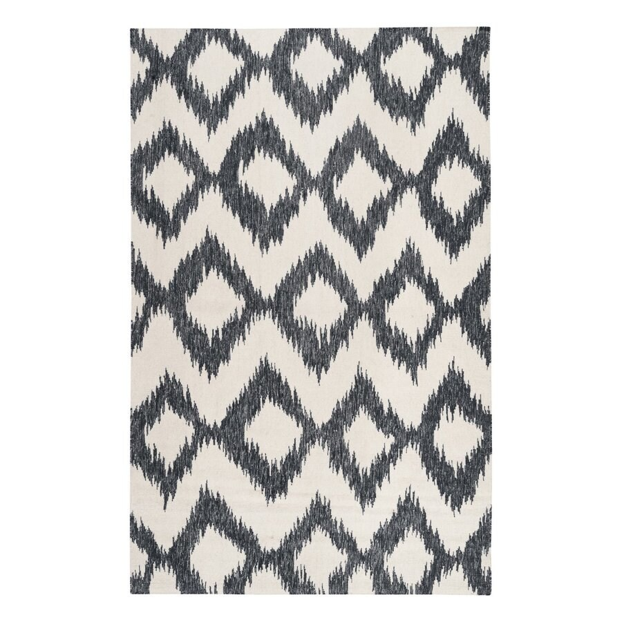 Surya Frontier Navy/cream Rectangular Indoor Handcrafted Area Rug (Common: 5 x 8; Actual: 5-ft W x 8-ft L)