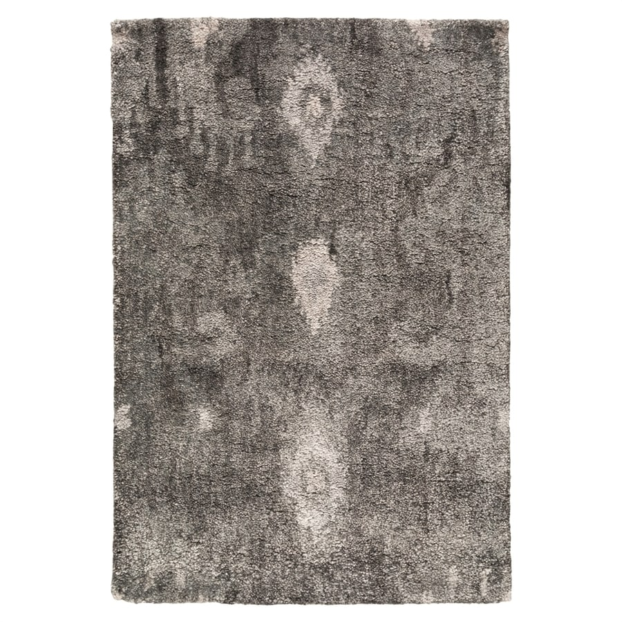 Surya Gemini Charcoal Rectangular Indoor Handcrafted Distressed Area Rug (Common: 3 x 5; Actual: 3-ft 3-in W x 5-ft 3-in L)